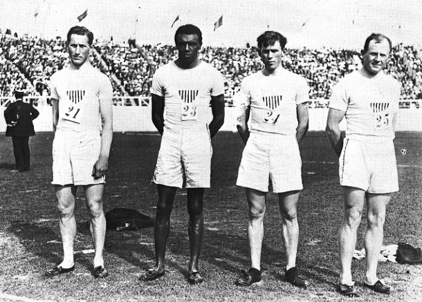 Track (men's), 1600 Meter Relay Team, 1908 Olympic Games. Photo courtesy University of Pennsylvania Archives